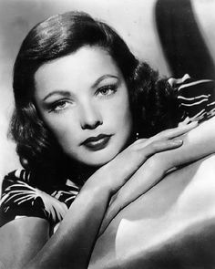 """Gene Tierney (1920-1991). American film and stage actress. Acclaimed as one of the great beauties of her day, she is best remembered for her performance in the title role of """"Laura"""" (1944) and Oscar-nominated for Best Actress in """"Leave Her to Heaven"""" (1945)."""