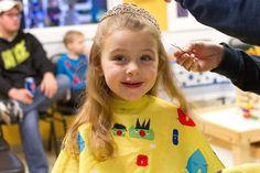 This princess got the royal treatment during her last salon appointment. Girl's Haircut at Junior Cuts (kids hair salon) in Milford, OH (Cincinnati)