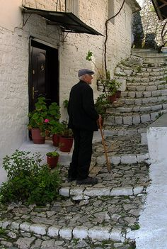 Old Man Resting, Berat, Albania