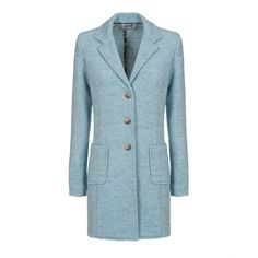 waisted woman coat in moss stitch