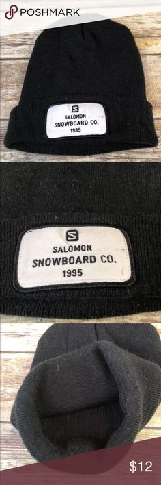 3c87b787376 Salomon Snowboard Ski Cap Winter Beanie Knit Hat Stocking cap Some dirt  smudges on patch See photos for details H3 Salomon Snowboard Patch Ski Cap  Winter ...