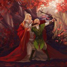Jrr Tolkien, Legolas Et Thranduil, O Hobbit, Fanart, Elvish, Middle Earth, Lord Of The Rings, Lotr, Illustration