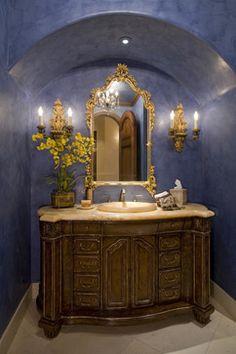 Interiors blue yellow bathrooms, silver bathroom, bathroom spa, bathroom id Coral Bathroom Decor, Silver Bathroom, Bathroom Sets, Bathroom Designs, Blue Yellow Bathrooms, Wainscoting Bathroom, Bathroom Shelves, Bathroom Mirrors, Powder Room Design