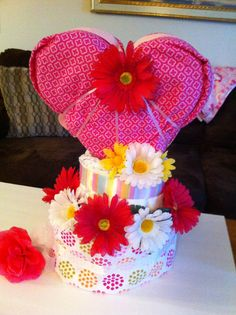 Big heart diaper cake #craftyconjuring
