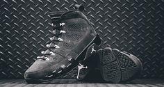 "The Air Jordan 9 ""Anthracite"" drops tomorrow."