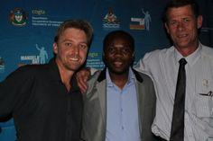 #MandelaMarathon #ROC Race Director @LezMoeti w/ @Craig Fry, @Comradesrace director Johan van Staden #Redlands #PMB