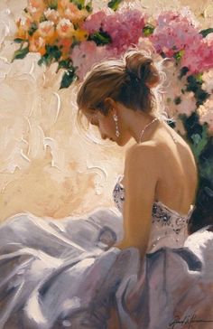 Artist Richard Johnson  Title: The Bare Shoulder Medium: Giclee on Canvas Size: 36 x  24