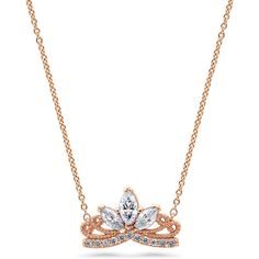 BERRICLE Rose Gold Flashed Silver CZ Crown Milgrain Filigree Pendant... ($45) ❤ liked on Polyvore featuring jewelry, necklaces, clear, pendant necklace, women's accessories, chain necklace, vintage necklace pendants, silver chain necklace, rose gold chain necklace and silver pendant
