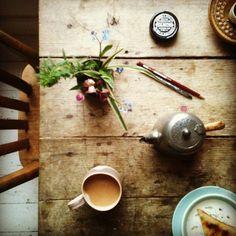 Sunday morning table
