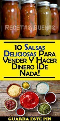 10 Salsas Deliciosas Para Vender Y Hacer Dinero ¡De Nada! Sauce Recipes, Cooking Recipes, Sandwich Sauces, Salsa Picante, Homemade Salsa, Empanadas, Food Plating, Chutney, Mexican Food Recipes