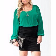 Nwt Sexy Black & Green Secretary Bandage Dress 2x