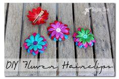 Easy DIY Flower Hairclips