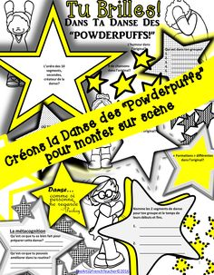 Créons la danse des Powderpuffs for gr. 7/8 has all you need to facilitate a great Dance Production for a Celebration Assembly.  This cooperative dance is highly engaging with an exciting Youtube link to inspire your students.  Included in resource: Learning Goals, Success Criteria, Rubric and Possible Report Card Comment, as well as, organizational templates.  Works well with iMovie, iPads or Computers req'd. (English Version also available) tpt $.