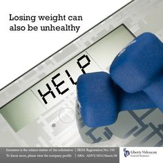 Losing a lot of weight in a short period of time is unhealthy. A weight loss of 1 to 2 pounds a week is the best way to go with.