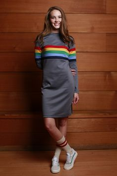 Rainbow Ponte Dress