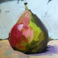 pear still life original painting by moulton