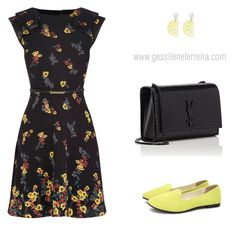 """""""vestido"""" by gessilene-mee on Polyvore featuring moda e Yves Saint Laurent"""