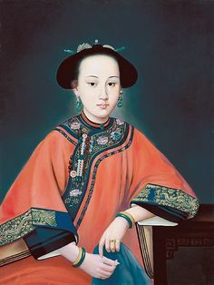 Consort Rong or the Fragrant Concubine,favourite consort of Emperor Qianlong.  By Giuseppe Castiglione, S.J. 郎世寧 Láng Shìníng
