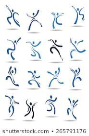 Abstract dance icons with blue silhouettes of dancing people in different poses suitable for logo or emblem template design Web Design, Logo Design, Graphic Design, Design Ideas, Wire Drawing, Sketch Notes, Poses, Logo Inspiration, Tatting