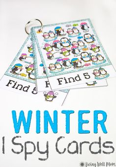 These Winter I Spy For Kids cards are a perfect no-mess activity for a winter day when it's just too cold to go outside. Grab these adorable free printables and enjoy them with your kids today!