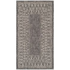 Shop for Safavieh Indoor/ Outdoor Courtyard Black/ Beige Rug (2'7 x 5'). Free Shipping on orders over $45 at Overstock.com - Your Online Home Decor Outlet Store! Get 5% in rewards with Club O!