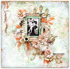 Three times mixed media with Attic Charm by Wilma Voermans.