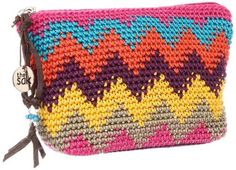 The SAK Classic Crochet 1000036535 Cosmetic Case,Montery Stripe,One Size The SAK. $25.00. Made in China. Nylon. nylon lining