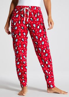 f9821267 Mix & Match Penguin Christmas Pyjama Bottoms Matching Christmas Pajamas,  Christmas Pyjamas, Ladies Pyjamas
