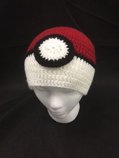 PokeBall Free Pattern - Trainer Hats for All Ages Crochet Kids Hats, Knitting For Kids, Free Crochet, Knit Hats, Crochet 101, Crochet Poncho, Crochet Ideas, Crochet Projects, Pokemon Crochet Pattern