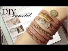 DIY : Fake leather bracelet - YouTube