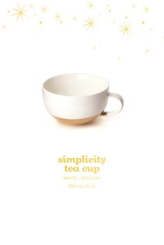 Simplicity Tea Cup - This stunning gold-dipped porcelain tea cup is the perfect way to class up your tea time. #DAVIDsTEA