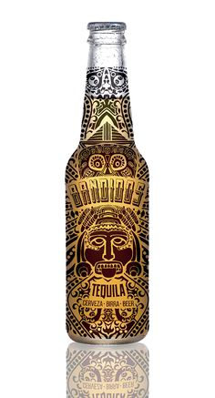 Natasza Salanska - Bandidos Beer World Packaging Design Society?Home of Packaging Design? Beverage Packaging, Bottle Packaging, Tequila, Craft Beer Brands, Buy Beer, Liquor Bottles, Bottle Design, Branding Design, Packaging Design