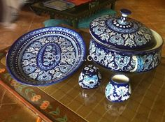 Blue Multan pottery