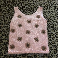 Vintage embellished top Obsessed with this top. Other than loose threads at the bottom of the top (see pictures) it's in great condition! Size says a 10 but would fit a 6/8 better! Tops Tank Tops