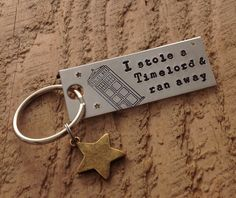 Hand stamped I stole a Timelord & ran away by craftylikeamonkey