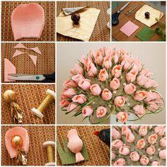 Wonderful DIY candy flower bouquet, tutorial:http://wonderfuldiy.com/wonderful-diy-candy-flower-bouquet/