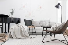 Radviken ikea chair paired with greys and neutrals. Boho Living Room, Small Living Rooms, Living Room Modern, Living Room Chairs, Scandinavian Home, Living Room Inspiration, Family Room, Interior Design, Loft