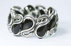 Rare Antonio Pineda Silver Swan Bracelet
