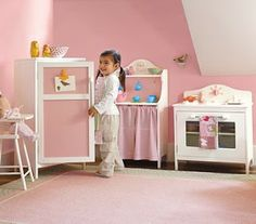 Pottery Barn kids retro kitchen diy plans. play kitchen. wood play ...