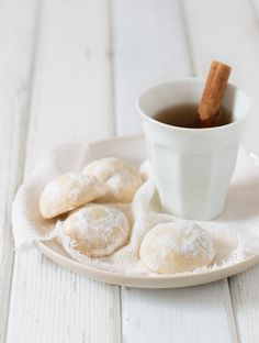 These sugar-coated melt in your mouth butter cookies use just a handful of ingredients and perfectly pair with tea or coffee.