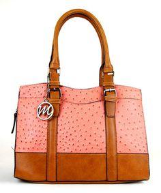 Look what I found on emilie m. Rose & Cognac Ostrich Jane Satchel by emilie m. Mk Handbags, Handbags Michael Kors, Purses And Handbags, Michael Kors Bag, Designer Handbags, Cheap Michael Kors, Coral, Everyday Bag, Beautiful Bags