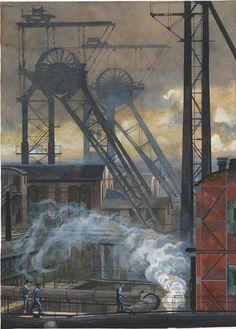 """Patrimonio Industrial Arquitectónico: Iconografía Industrial. """" Westphalen Coal Mine """" d..."""