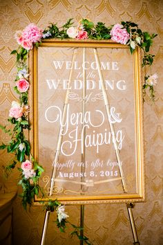 Welcome Board | Event Planning, Styling & Design: Manna Sun Events | www.mannasunevents.com | Photo: Leon Wong