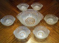 Unusual Vintage 7 Pc. Berry Bowl  Set - Large Bowl w/6 Smaller - L@@K