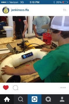 Radio and speaker combo built into PVC pipe and mounted on an ATV.  SAE creativity at its best. Jenkins County FFA - www.OneLessThing.net