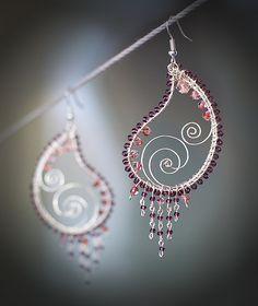 Violet Paisley [handcrafted earrings] by sabi_krabi, via Flickr