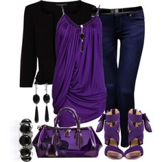 A fashion look featuring sleeveless tops, black cardigan and blue jeans. Browse and shop related looks.