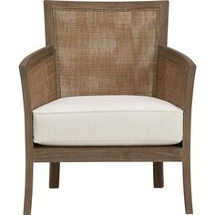 """The frame is crafted of plantation-grown teak supported by TFT, a nonprofit organization that promotes responsible forest management, and the 5""""-thick cushioning is multilayer soy- or plant-based polyfoam."""