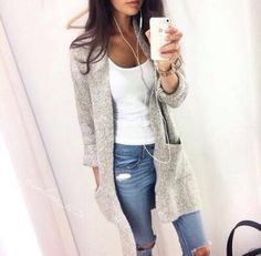 Cheap pull fashion, Buy Quality female cardigan directly from China knitted cardigan Suppliers: 2017 Autumn Winter Fashion Women Long Sleeve loose knitting cardigan cardigan sweater Womens Knitted Female Cardigan pull femme Mode Outfits, Casual Outfits, Fashion Outfits, Womens Fashion, Outfits 2016, Fasion, Fashion Clothes, School Outfits, Fashion Boots