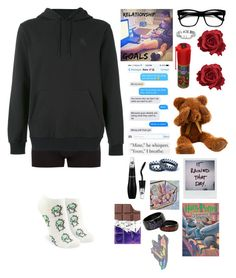 """""""Untitled #707"""" by potatolover123 ❤ liked on Polyvore featuring interior, interiors, interior design, home, home decor, interior decorating, Victoria's Secret, Paul Smith, NIKE and Retrò"""
